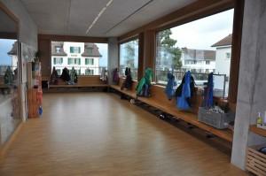 Schulhaus Alea Garderobe